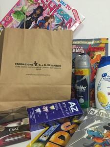 regali di benveer i bambini della Clinica De Marchi