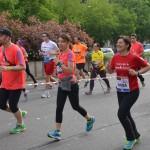 momenti della Milano Marathon con i nostri corridori